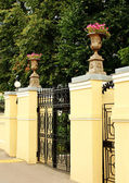 Front gate to the estate — Stock Photo
