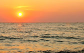 Sun set over the sea horizon — Stock Photo