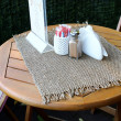 Stock Photo: Table in outdoor summer cafe