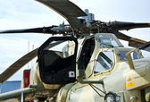 Combat helicopters cabin — Stock Photo