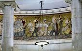 Mosaics in Moscow metro — Stock Photo