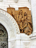 Sculpture on the wall of Christ the Saviour Cathedral in Moscow — Stock Photo