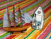 这艘帆船的模型 — 图库照片