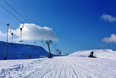 Technique for the ski slopes — Stock Photo