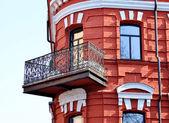 Iron balcony — Stock Photo