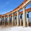 Colonnade of the old manor - Stock Photo