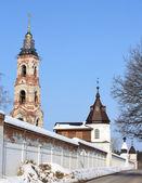 Belfry and wall tower of St. Nicholas Berlyukovsky Monastery — Stock Photo