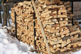 Stock of firewood — Stock Photo