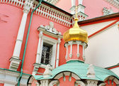 Wall of the temple of the Epiphany Monastery in Moscow; — Stock Photo