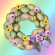 Easter egg wreath — Stock Photo