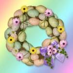 Easter egg wreath — Stock Photo #9665221