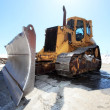 Stock Photo: Snow-cleaning bulldozer