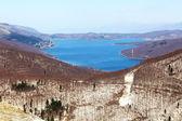 Lago mavrovo, macedônia — Foto Stock