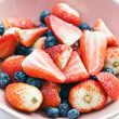 Strawberries and blueberries — Stock Photo #10032784