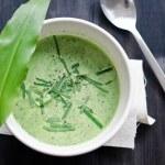 Wild garlic soup — Stock Photo
