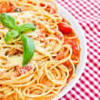 Spaghetti whit tomato sauce - Stock Photo