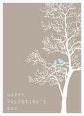 Ptaki miłości na drzewo — Zdjęcie stockowe