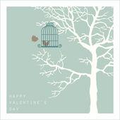 Pássaros do amor na árvore — Foto Stock