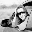 Smiling female driver — Stock Photo #9345881