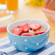 Strawberries with yogurt — Stock Photo