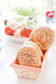 Fresh healthy natural bread... — 图库照片