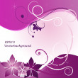 Pink floral abstract background vector — Imagen vectorial