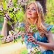 Woman in spring — Stock Photo #9189688