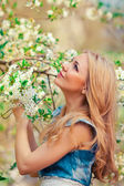 Woman in spring — Stock Photo