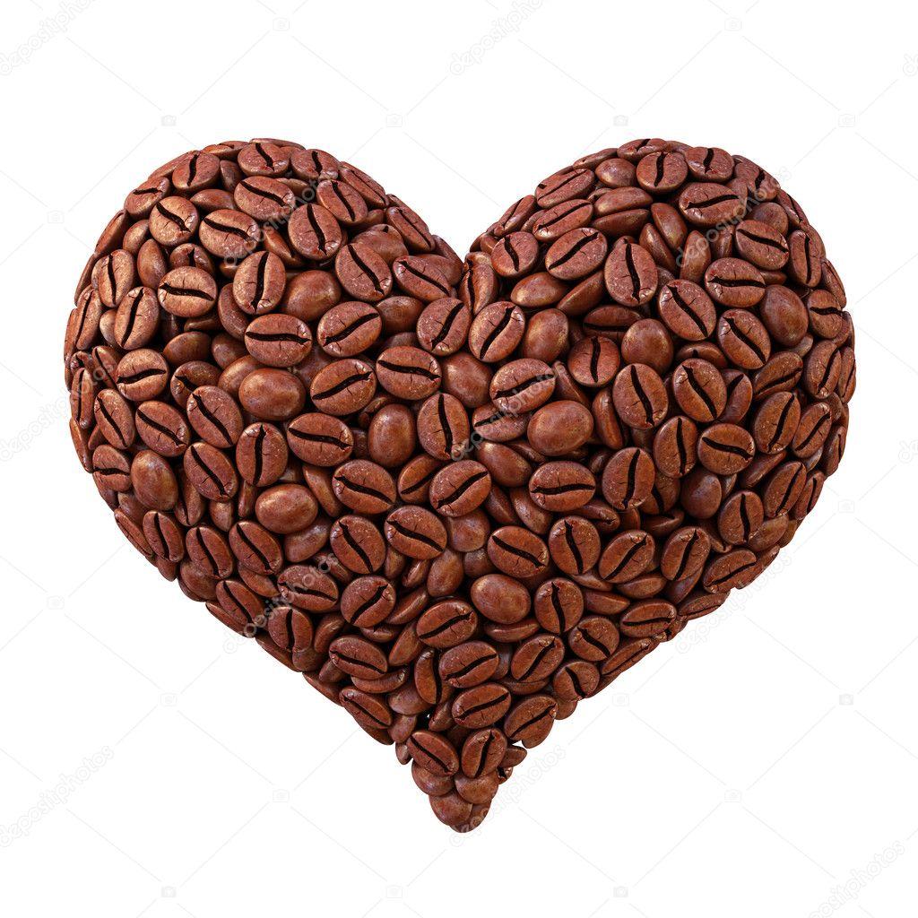 Сердце из кофейных зерен фото 3