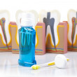 Dental equipment, teeth care and control - Foto de Stock  