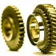 Gear wheels system over white background — Stock Photo
