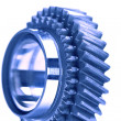 Stock Photo: Gear wheels system over white background