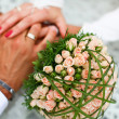 Stockfoto: Bride and groom hand in hand together