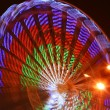 Ferris wheel at christmas in Riga — Stock Photo