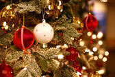 Closeup of Christmas tree — Foto Stock