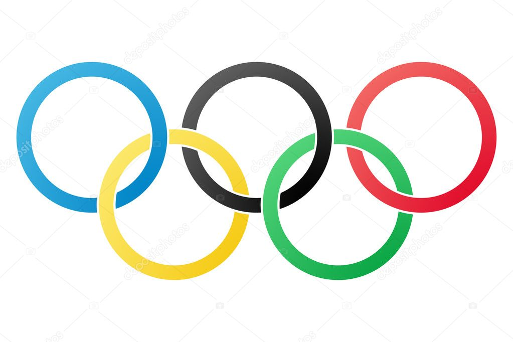 Olympic symbol isolated on white background — Stock Photo #8388773