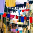 Stock Photo: Beautiful venetistreet with clothes