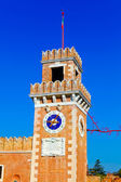 Big tower of Venetian Arsenal, Italy — Stock Photo