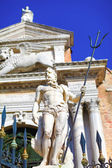 Neptune with trident close to Venetian arsenal — Stock Photo