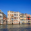 Traditional view of Grand Canal in, Venice — Stock Photo