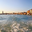 Grand Canal, view from vaporetto in Venice — Stock Photo