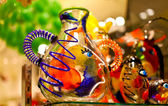Colorful venetian souvenir from glass — Stock Photo