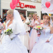 Brides parade 2010 — Stock Photo