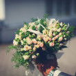 Stock Photo: Beautiful wedding bouquet of roses