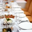 Foto Stock: Table in restaurant is ready for banquet