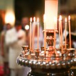 Orthodox wedding ceremony in church — Stockfoto