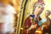 Icon of Virgin Mary and baby Jesus — Stock Photo