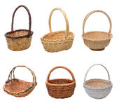 Assorted Basket Colage — Stock Photo