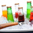 Stock Photo: Assorted SodBottles in Ice Chest
