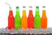 Line of Soda Bottles — Stock Photo
